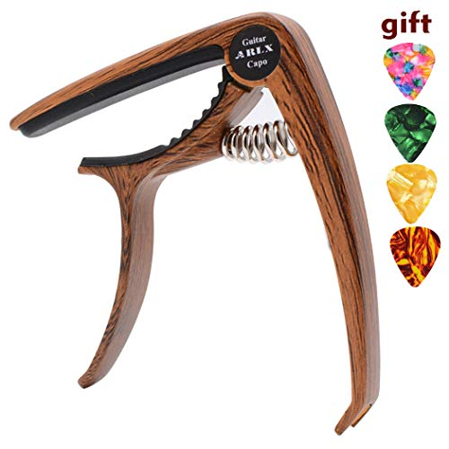 Capo Guitar Capo -for 6-String Acoustic & Electric Guitar- Zinc Alloy Quick Change Trigger Capo
