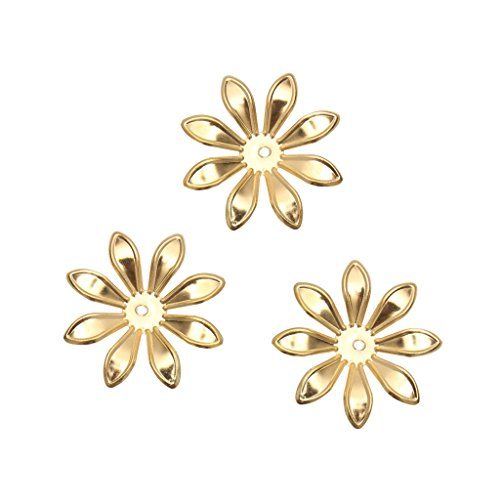 - Flameer 100 Pieces Metal Filigree Flowers Slice DIY Hairpin Headwear Earring Jewelry Making Findings - Gold