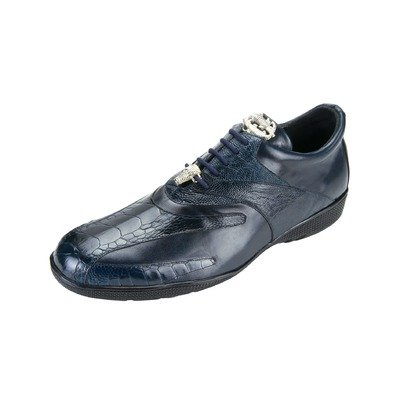 Belvedere Men's Bene Shoes,Navy Ostrich/Calf,9 M US (Belvedere Shoes For Men compare prices)