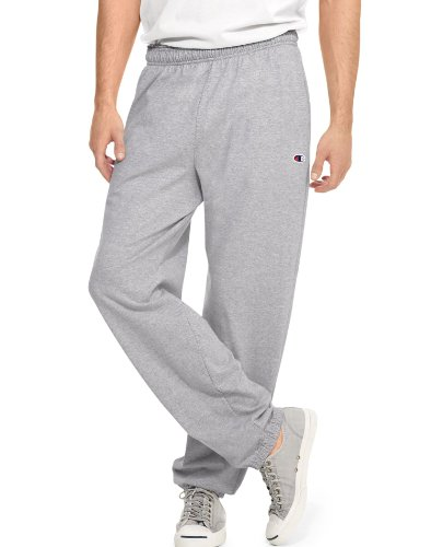 2 Pocket Sweatpants - Champion Men's Closed Bottom Light Weight Jersey Sweatpant, Oxford Grey, XX-Large