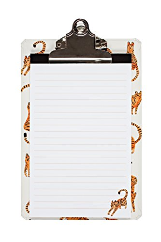 "Price comparison product image Tiny Tigers Mini Clipboard,  6 x 9"" clipboard with coordinating notepad"
