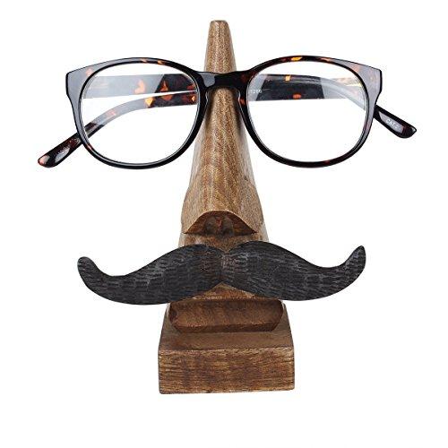 storeindya Wooden Eyeglass Holder Spectacle Display Stand Desk Glasses Holder Handcrafted Display Optical Accessories (Design 5)