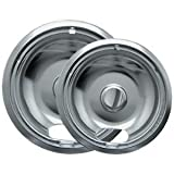 "Range kleen Drip Bowl Chrome 1 Small / 6"" And 1 Large / 8"", 2 Pk - 12782XCD5"