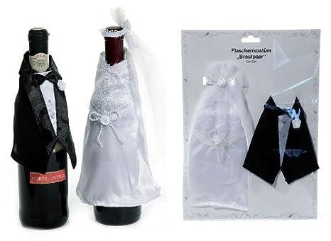 Botellas disfraz de novios o aniversario de boda-regalo ...