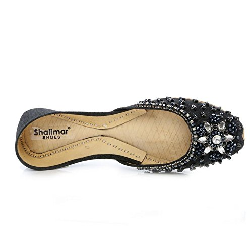con Mujer Shoes Negro cuña Shalimar Sandalias Owvq4zzx