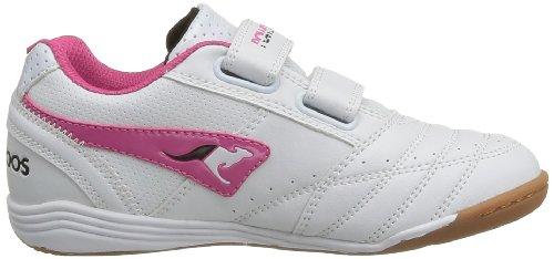 067 De Chaussures Salle Kangaroos Garçon Court Blanc magenta white En Sports Power t6nAtPEwq