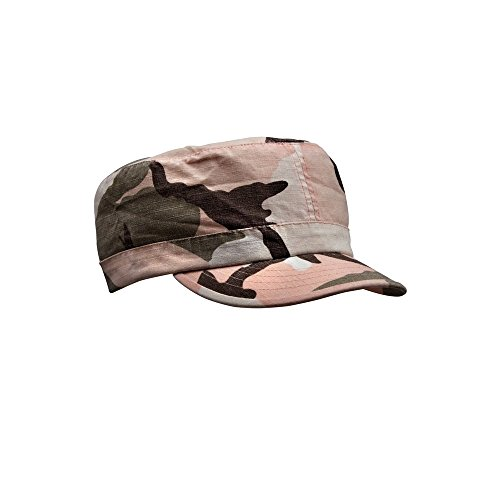 Womens Military Hat - Vintage RipStop Fatigue Cap Pink Camo Adjustable by Rothco Vintage Adjustable Fatigue Cap