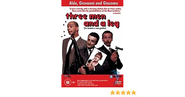 Amazon Com Three Men And A Leg Aldo Giacomo Marina Massironi Giovanni Carlo Croccolo Aldo Giacomo Categoryarthouse Categoryitaly Film Movie Foreign Film Movie Italy Italian Three Men And A Leg Tre Uomini