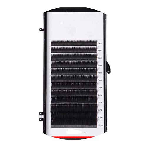 Individual Eyelashes Extension Supplies False Professional Mink Eyelashes Extensions Russian Volume Lashes 0.03-0.07Mm,C,0.03Mm,12Mm