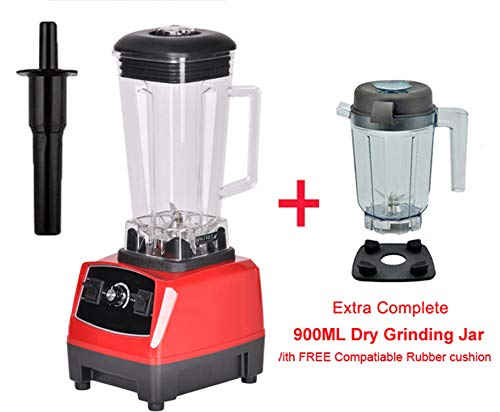 Eu/Uk/Au/Us Plug 3Hp 2200W 2L Commercial Home Professional Smoothies Power Blender Food Mixer Juicer Fruit Processor,Red Extra Dry Jug,Uk Plug