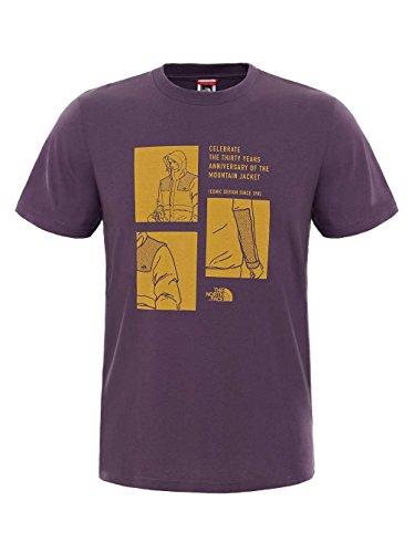 North Face M Celebration Tee - Maglietta da uomo, UOMO, rosso, XXL