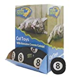 OurPets Cosmic Catnip Toys Bulk Eight Ball 24pc