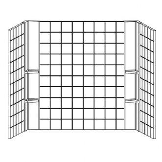 Tile Universal Wall Surround Kit Finish: Linen