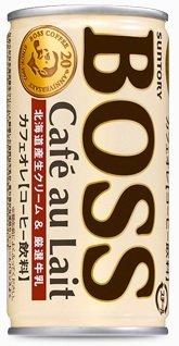 Suntory BOSS cafe au lait 185g X 3 cases (1 case 30 cans)