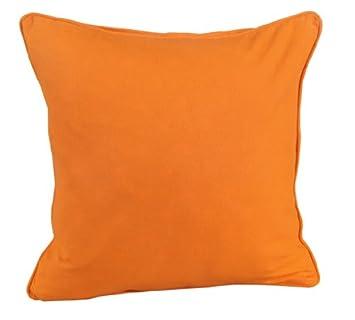 Homescapes – Housse de coussin Orange – 4
