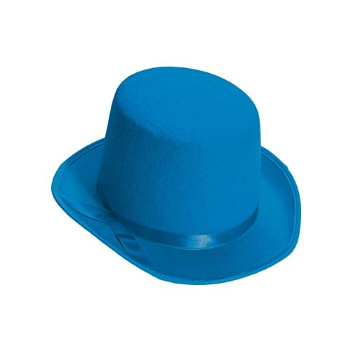 [Forum Novelties Blue Deluxe Top Hat] (Blue Top Hat)