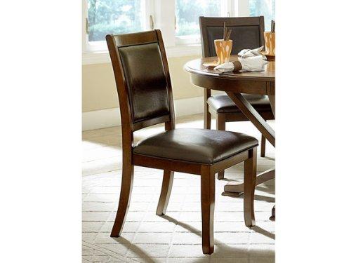 Home Elegance Helena Side Chair by in Dark Brown