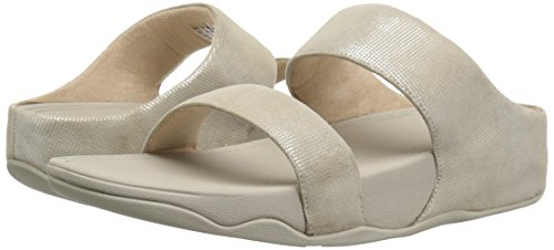 Pictures of FitFlop Women's Lulu Slide Shimmer-Check Sandal L94 4