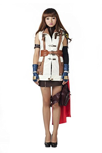 [Mtxc Women's Final Fantasy XIII Cosplay Costume Lightning Size XX-Large Buff] (Final Fantasy Xiii 13 Lightning Cosplay Costume)