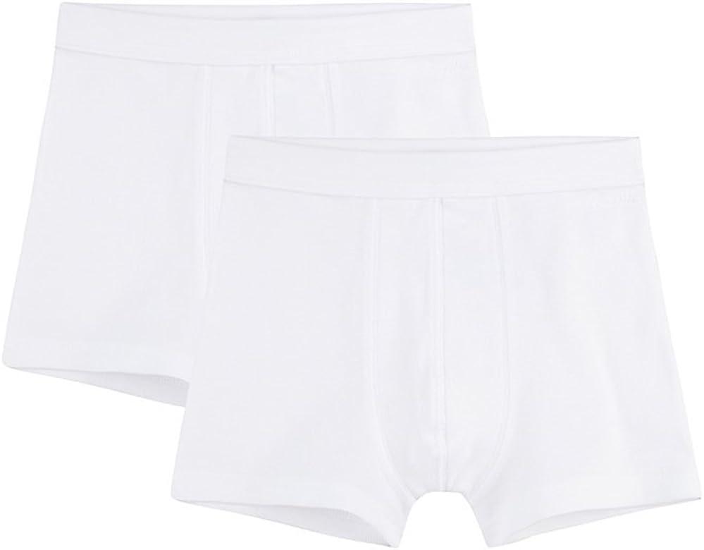 Sanetta – Pantalones cortos para niño en paquete doble de algodón orgánico – Fabricado en Europa Blanco (10). 24 meses: Amazon.es: Ropa y accesorios