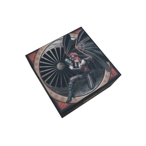 5 Inch Assassin Steampunk Girl Box with Mirror Statue Figurine