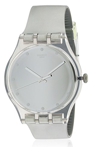 Swatch SHINY MOON Watch SUOK121 (Transparent Plastic Watch)