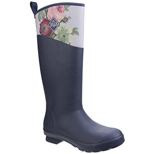 Stivali Di Gomma Da Donna / Da Donna Tremont Rhs Stampa Impermeabili Stivali Da Pioggia Navy / B & B Passiflora