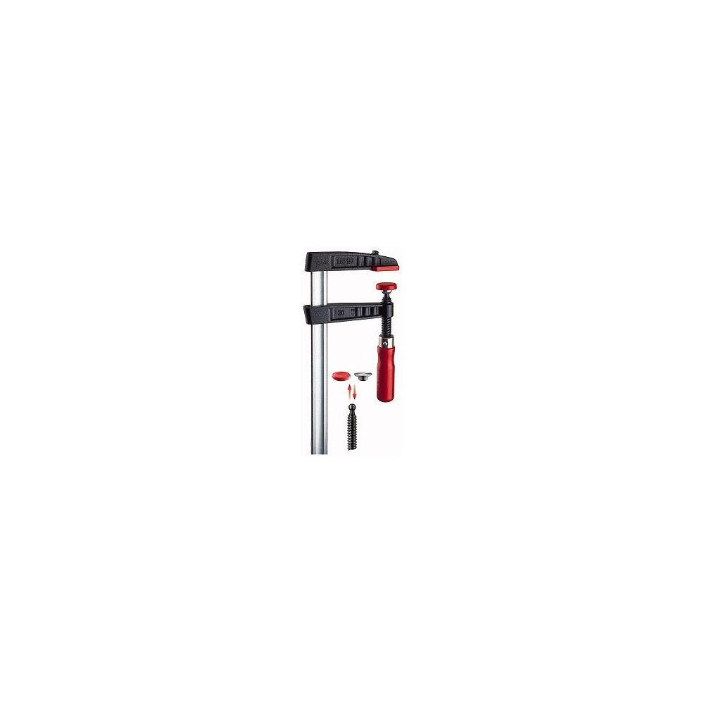 Bessey TG25S10 Screw Clamp Tg 9.84In/3.94In of Cast-IRON, Black/Red/Silver