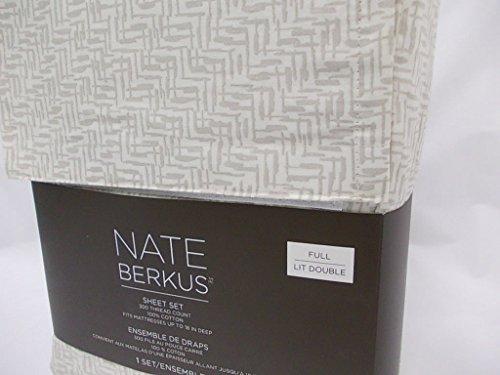 Nate Berkus 300 Thread Count Linear Block Sheet Set - Cre...