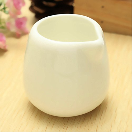 Concise 50ml White Sessile Small Ceramic Porcelain Caffe Nero Milk Coffee Cream Sauce Tot Pouring Jug Pot For Bar Coffee Shop