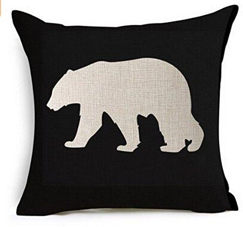 Cotton Linen Square Decorative Throw Pillow Case Cushion Cov