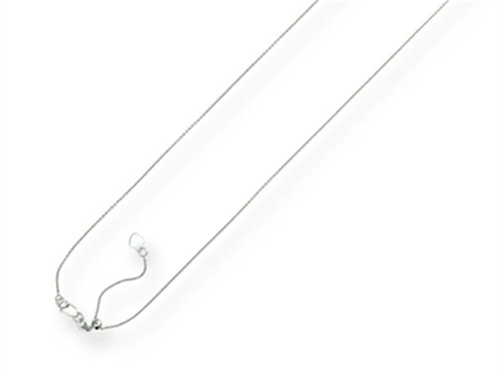 Finejewelers 14k 22 Inch bright-cut Adjustable Cable Chain Necklace Lobster Clasp and Small Heart Charm