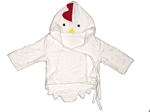 Premium Chicken Baby Robe | Soft & Absorbent 100% Organic Bamboo | Super Cute | Newborn, Infant & Toddler | Unisex | Warm, Dry & Safe |Fun for Bath Time, Play Time, Beach & Pool |Antibacterial