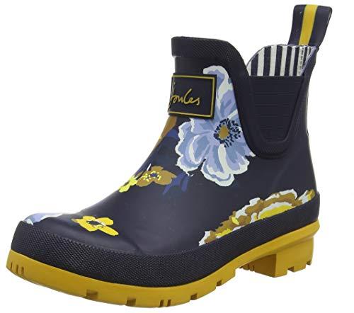 Joules Women's Wellibob Rain Boot (7 M US, Navy Botanicals) (Hand Drawn Shoes)