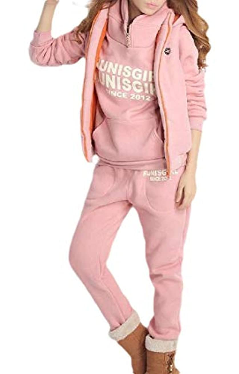 マニア面ペッカディロFly Year-JP Womens 3 Piece Set Sweatsuit Tracksuit With Swetshirt And Sweatpants Vest