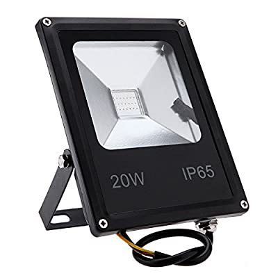White, 50W black shell : LED RGB Floodlights with Remote Controller 10W 20W 30W 50W Outdoor Flood Lighting IP65 220V 110V Reflector Garden Lamps