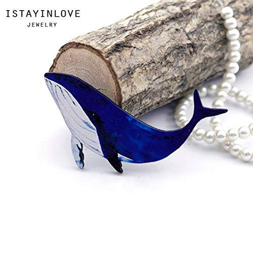 Cut Dolphin Charm - Laliva Handmade Jewelry Making Supplies Beads Laser Cut Wooden Marine Animal Charm Dolphin for DIY Necklace Earring Brooch CW088-B 2