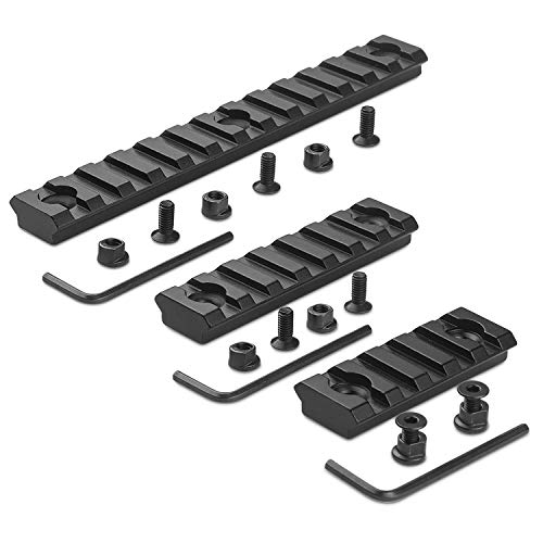 STARVAST Keymod Picatinny Rail Sections 5, 7, 13 Slots Aluminum Keymod Rail Accessories for Handguard Mount Rail System with 3 Allen Wrench (3 Pack)
