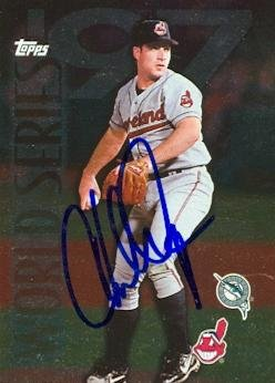 Autograph Warehouse 73188 Chad Ogea Autographed Baseball Card Cleveland Indians 1997 Topps World Series No ()