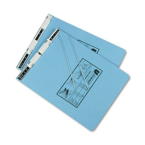 Universal Office Products Pressboard Hanging Data Binder, 9-1/2 x 11, Unburst Sheets, Light Blue 15431 by Universal Office Products