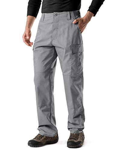 2 Bdu Pocket (CQR CQ-UBP01-STN_X-Large(W40-44)-Regular Men's ACU/BDU Rip Stop Trouser EDC Tactical Combat Pants UBP01)