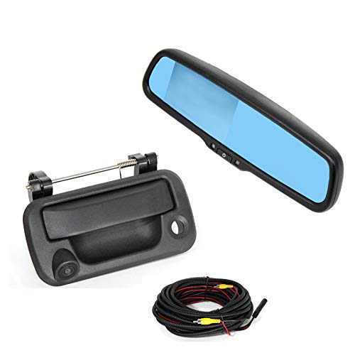 (REDWOLF Aftermarket Tailgate Handle with Back Up Camera +4.3
