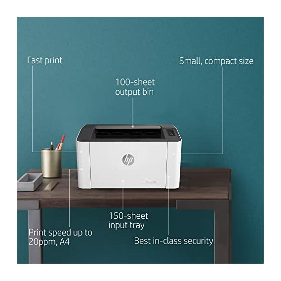 HP Laserjet 108A Monochrome Laser Printer with USB Connectivity, Compact Design, Fast Printing