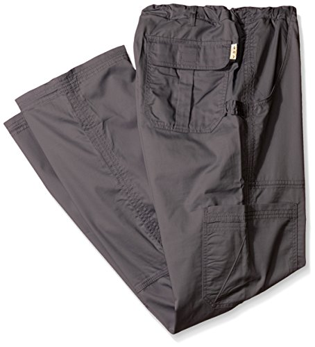 KOI Men's Big and Tall James Elastic Scrub Pants with Zip Fly and Drawstring Waist, Steel, ()