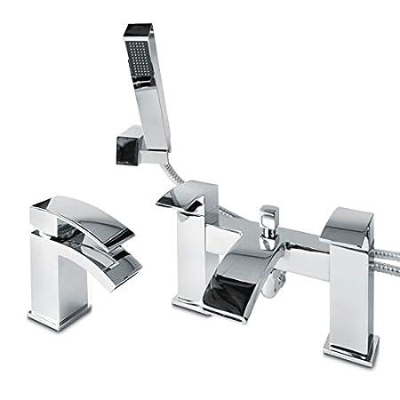 Bathroom Taps Set Mixer Chrome Basin Mono Shower Bath Design: Amazon ...