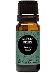 Muscle Relief Synergy Blend Essential Oil by Edens Garden- 10 ml (Clove, Helichrysum, Peppermint and Wintergreen)