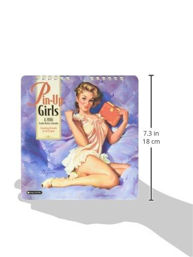 Pin-Up Girls - 2016 Mini Calendar 7 x 7in Photo #2
