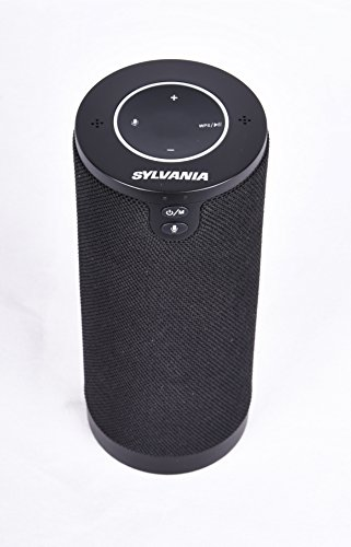 Sylvania Alexa Powered Speaker Bluetooth + Wi-Fi Smart with Powerful Multi-room Sound and Voice Control: Stream Amazon Music Unlimited, Spotify, TuneIn, iHeartRadio, Control Smart Home Devices