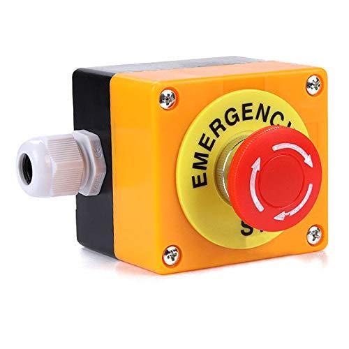 Interruttore di Emergenza a Forma di Fungo Rosso PerGrate 708//5000 1 No 1 NC 10A 660 V