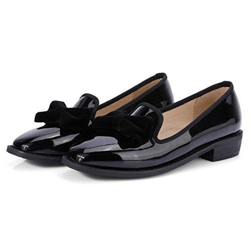 Bureau Femmes Chaussures Talons Bas JOJONUNU Black 6gpBtqzH6w